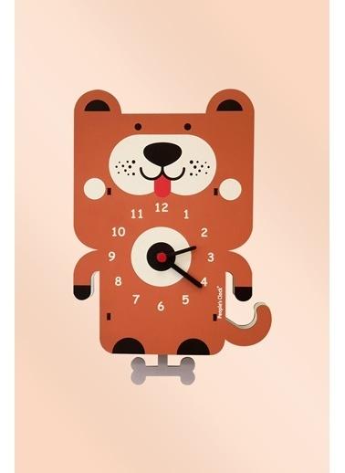 Peoples Clock Sevimli Dost Sallanan Sarkaçlı Çocuk Odası Duvar Saati Renkli
